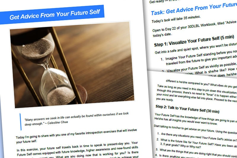 30DLBL Guidebook: Get Advice from Your Future Self