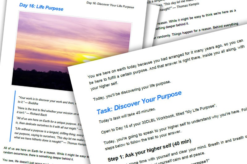 30DLBL Guidebook: Life Purpose