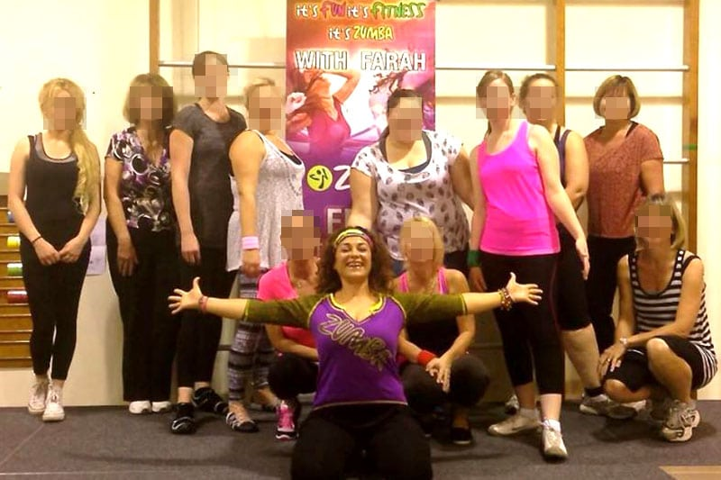 Farah with her Zumba class participants
