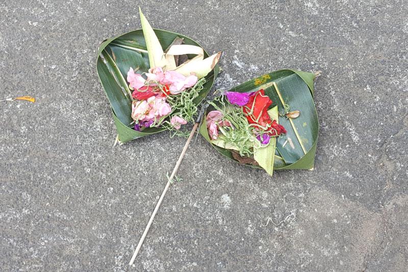 "Ubud: A Balinese offering called ""Canang sari"""