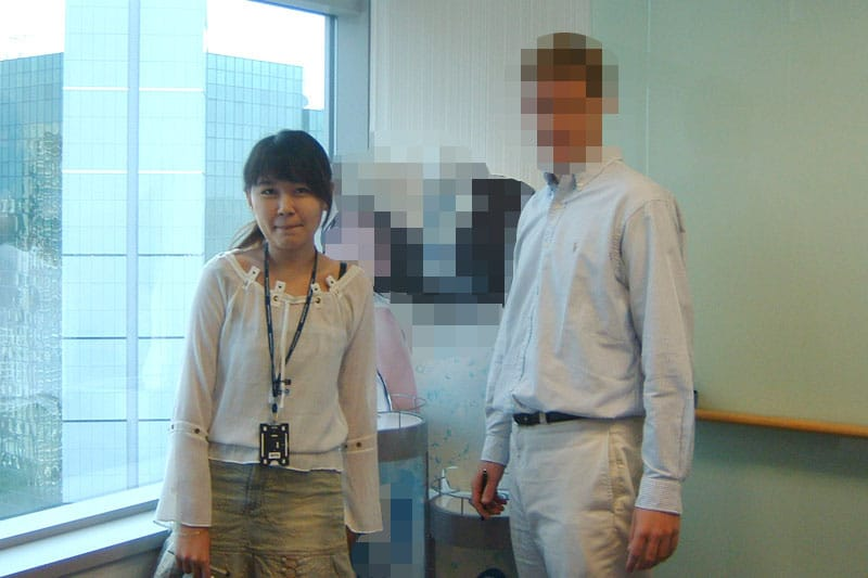 During the last day of my internship (2005)