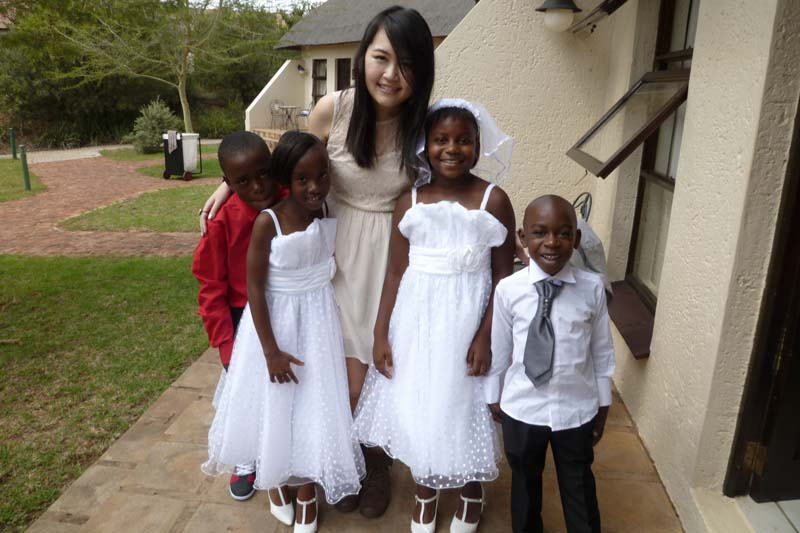 Celes at Mavis' Wedding in Johannesburg