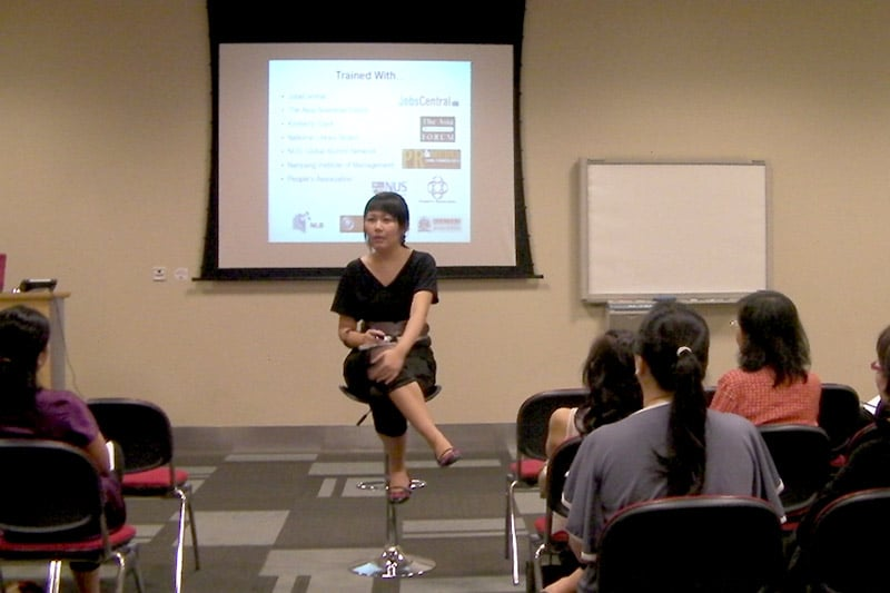 Entrepreneurial sharing session at National Library (Workshop)