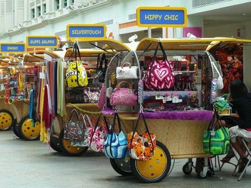 Pushcarts in Singapore