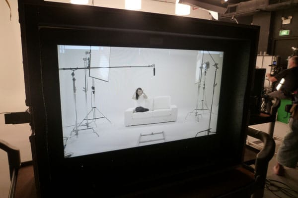 Dove Camera Confidence Shoot: Celes on the set, chilling