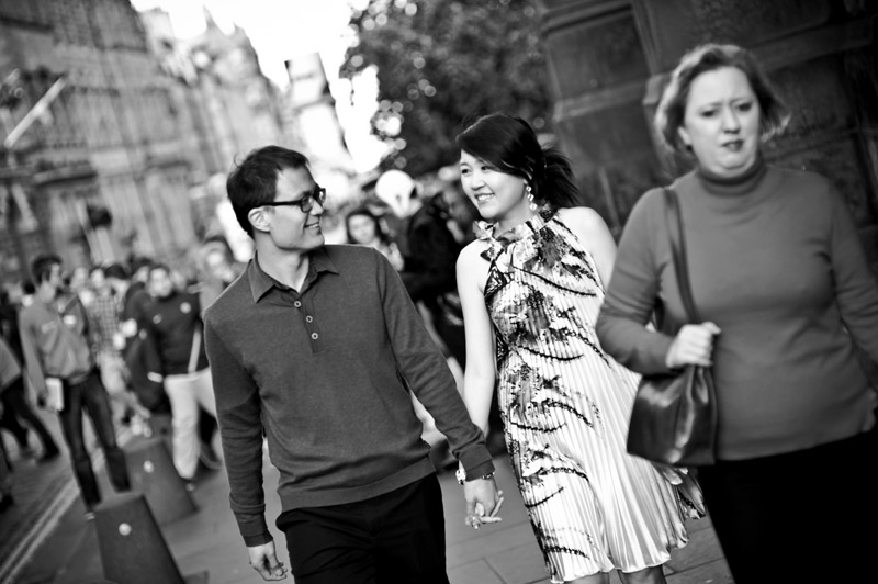Engagement shoot: Mutual gaze (Edinburgh City)