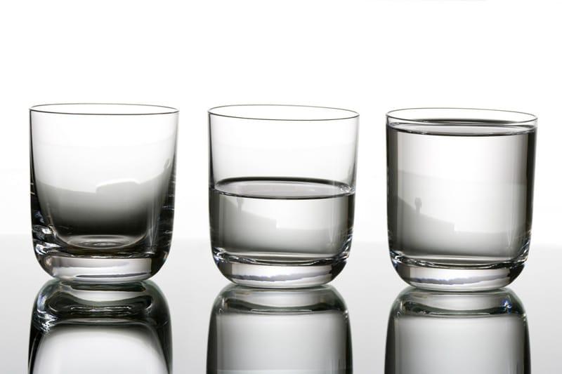 Glass of water — Half empty or Half full?