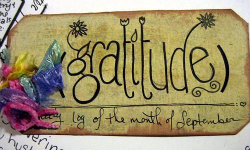 An artistic gratitude journal made by miscellaneaarts (Cover)