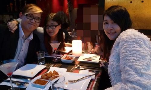 Me with my friends in Hong Kong: FCC, Rita, B, myself
