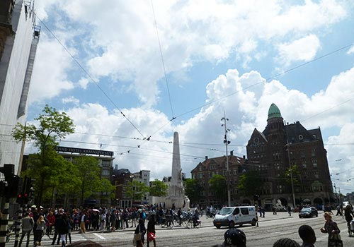 Nice and sunny weather in Amsterdam Central