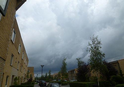 Burgeoning dark clouds at Hoofddorp