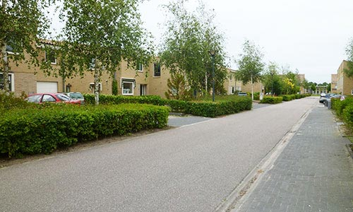 Houses at Hoofddorp, a town in Holland
