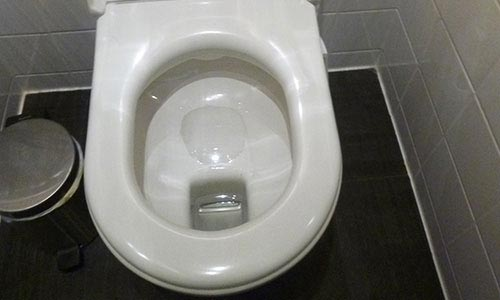 Traditional Dutch toilet design in Holland