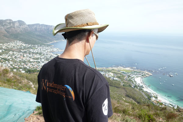 Ian's backview, on top of Lion's Head