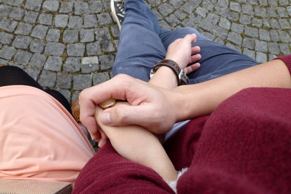 Holding hands :)