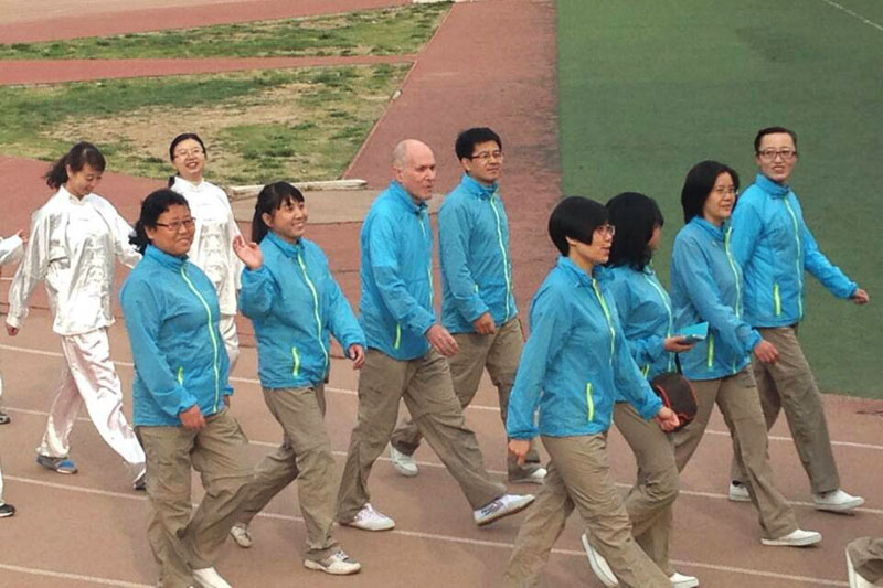 Larry with other Chinese members in a local Sports Day