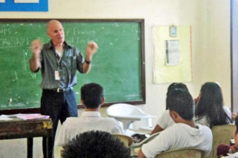 Larry teaching