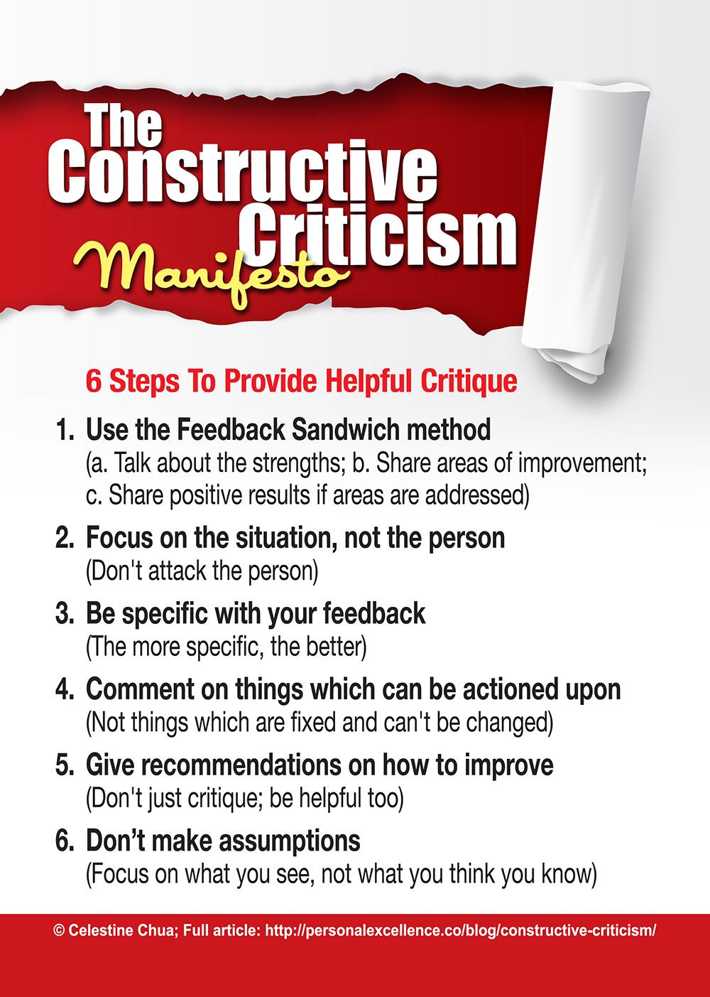 The Constructive Criticism Manifesto