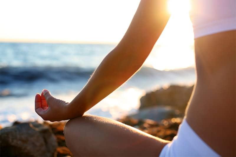 Meditation at the beach