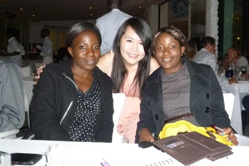 Johannesburg PE Readers Meetup: Sandy, Me (Celes), Samantha