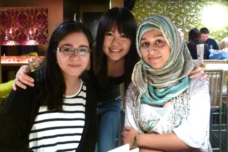 London Meet-up: Beheshteh, Celes and Sulthana