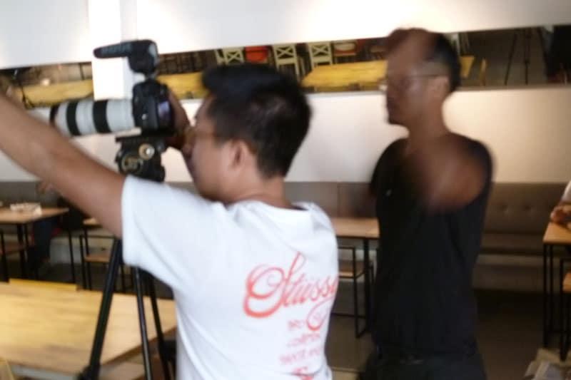SG PE Readers Meetup: Mediacorp filming crew