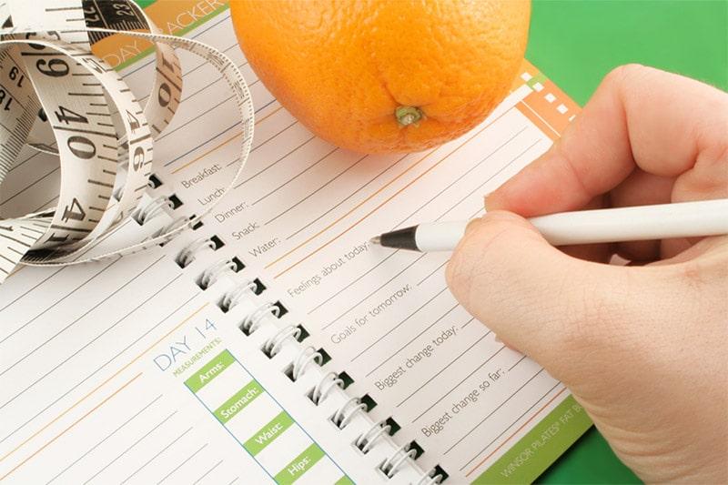 Orange, Notebook, Measuring tape