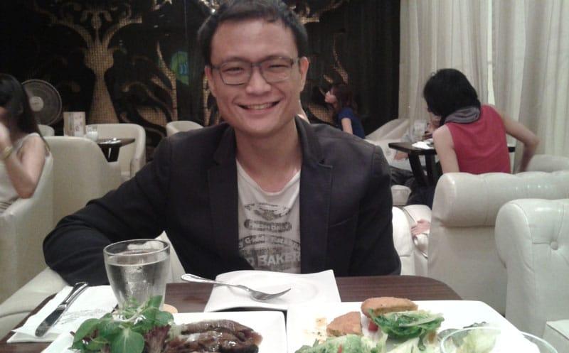 Ken having dinner at TCC