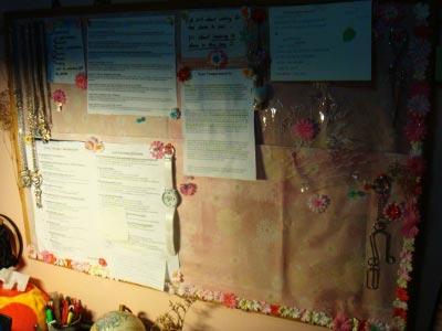 My noticeboard