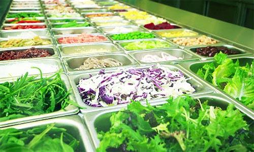 Ingredients at Salad Stop bar