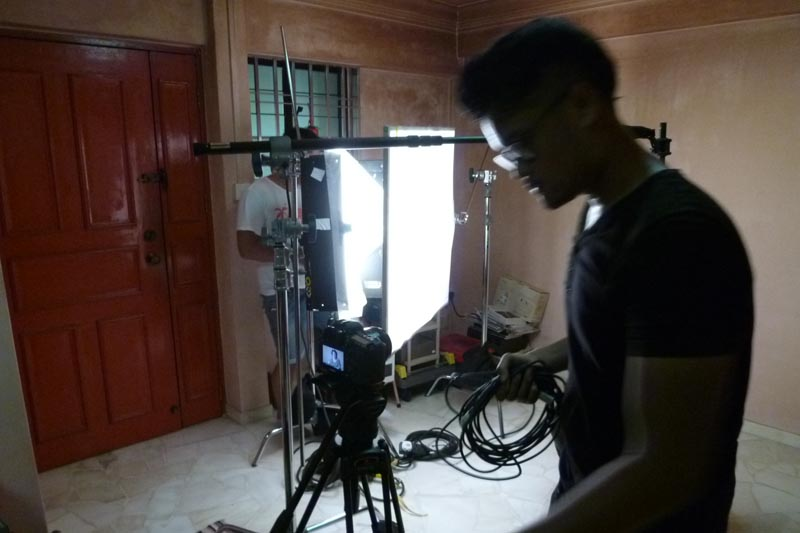Soul Sisters: Filming setup at home