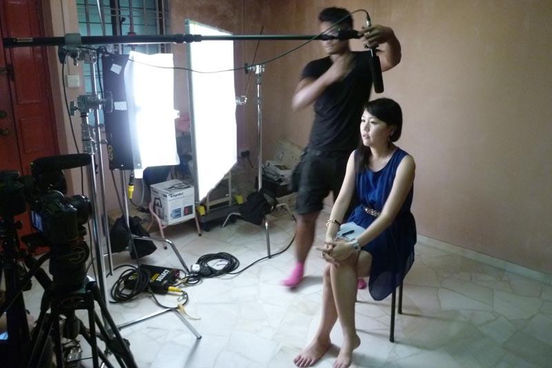 Soul Sisters: Filming setup