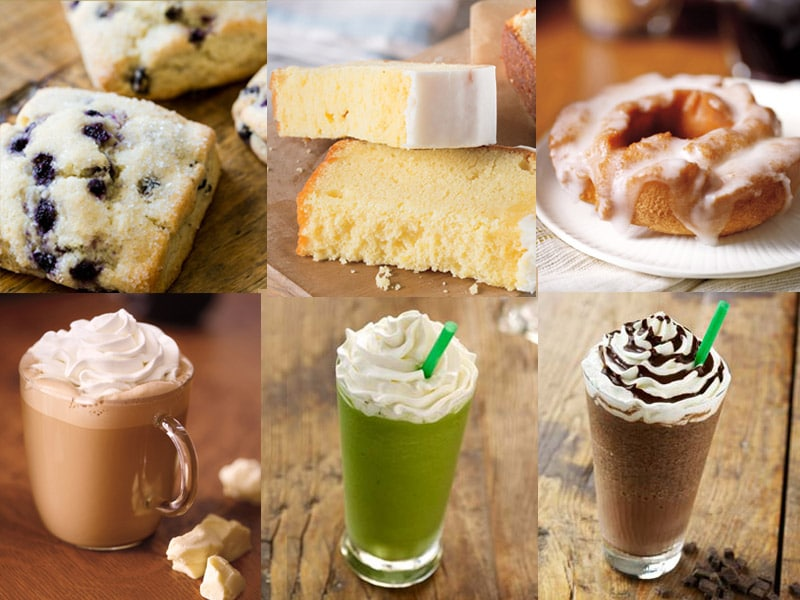 Starbucks food and drinks