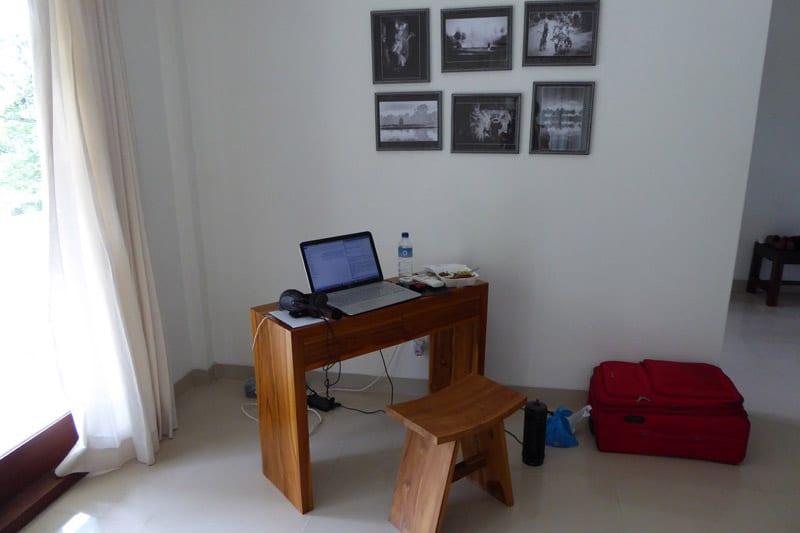Ubud Villa: Work desk