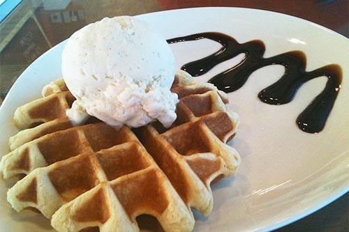Udders Waffle Ice Cream