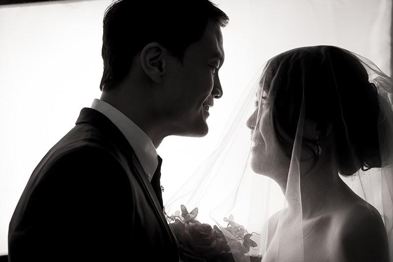 Ken and Celes in bridal veil