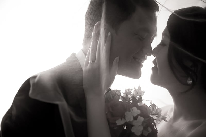 Ken and Celes, in bridal veil