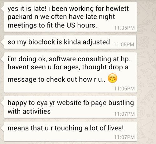 Ken's response to me on Whatsapp
