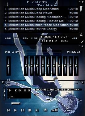 Winamp Skin: Rei Ayanami