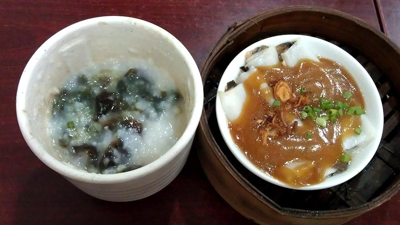 Porridge and Chee Cheong fun