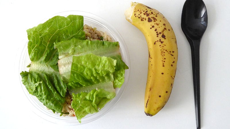 Rice salad and Banana