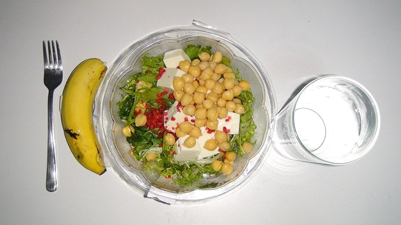 Banana and Homemade salad