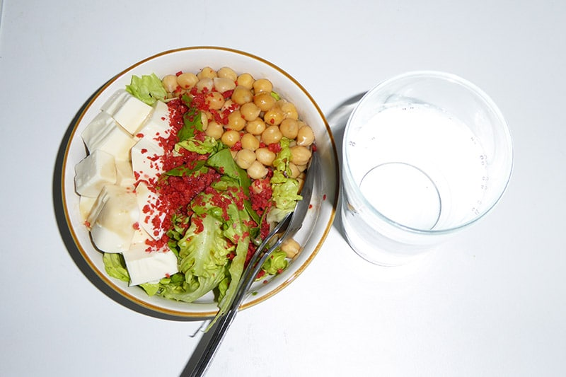 Salad and Water