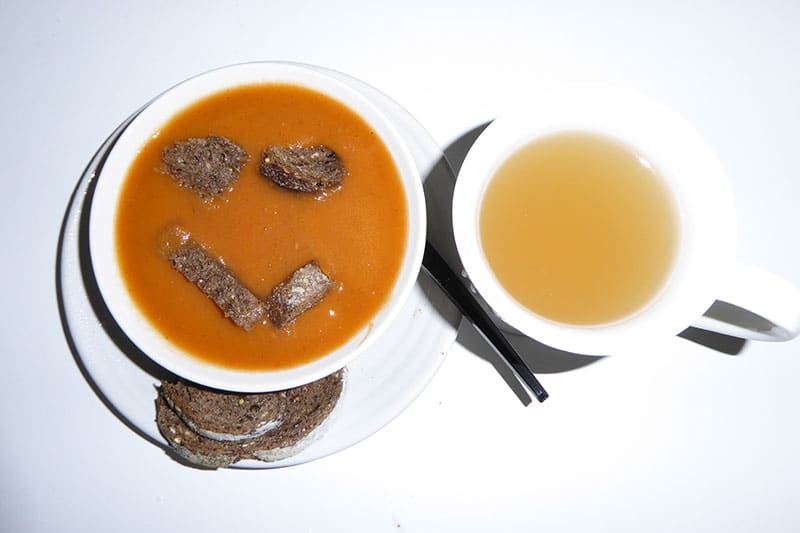 Soup and Ginger tea