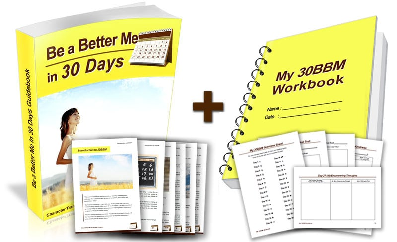 Be a Better Me in 30 Days Guidebook and Workbook