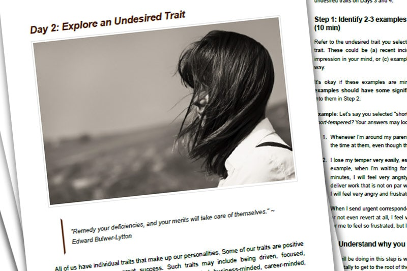 30BBM Guidebook: Explore an Undesired Trait