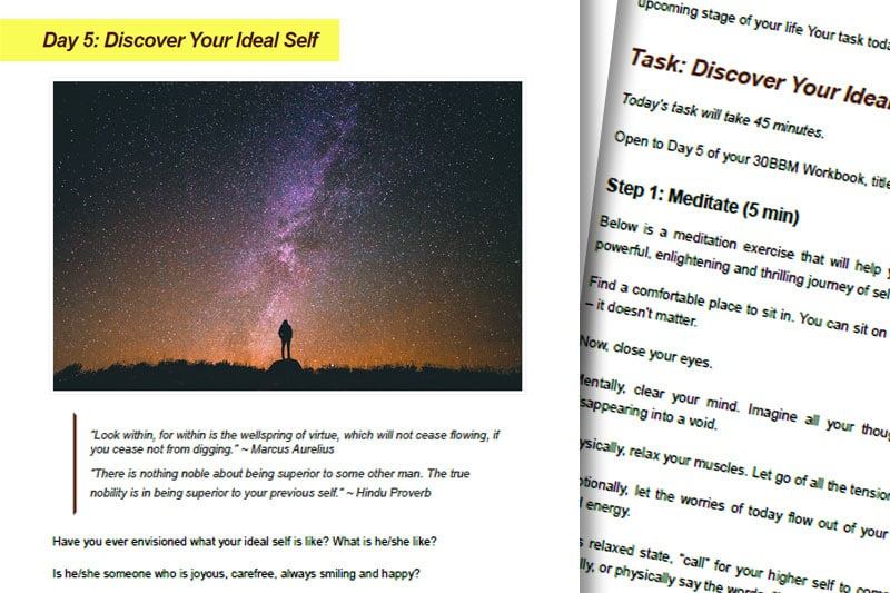 30BBM Guidebook: Discover Your Ideal Self