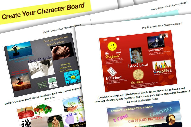 30BBM Guidebook: Create Your Character Board