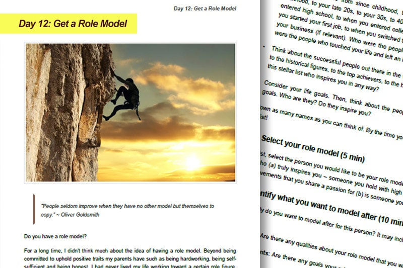 30BBM Guidebook: Get a Role Model