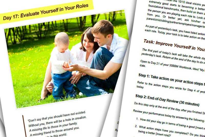 30BBM Guidebook: Evaluate Yourself in Your Roles